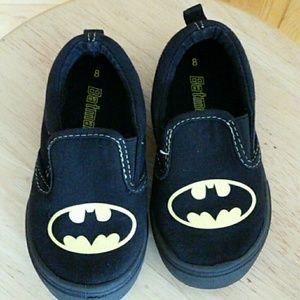 Toddler Boy Size 8 Black Batman Shoes